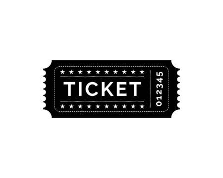 Ticket Symbol Vektor Logo Vorlage Illustration Design Logo