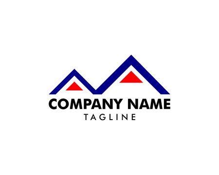 Volcano mountain logo, Symbol and icon of volcano mountain Çizim