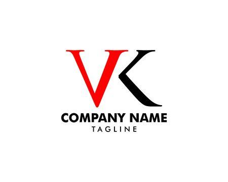 Initial Letter VK Logo Template Design