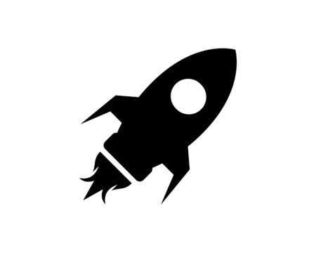 Rocket Launched Icon Vector Logo Template Illustration Design