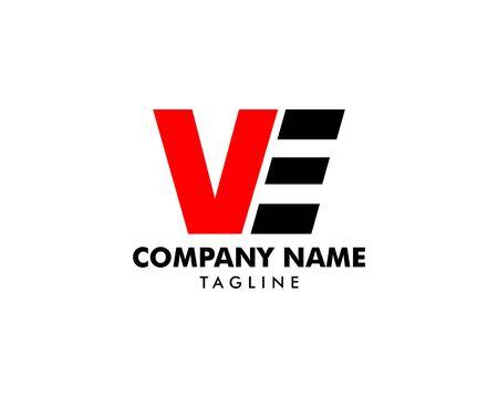 Initial Letter VE Logo Template Design