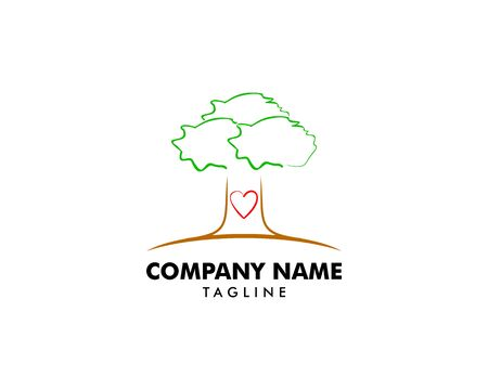Love Tree Logo Template Design Stock Illustratie