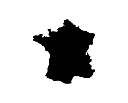 France, Europe Countries Map Vector Icon Template Illustration Design Stock Illustratie