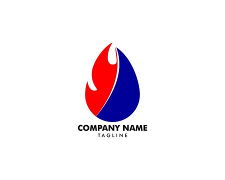 Heating and Air Conditioning Logo Template Design