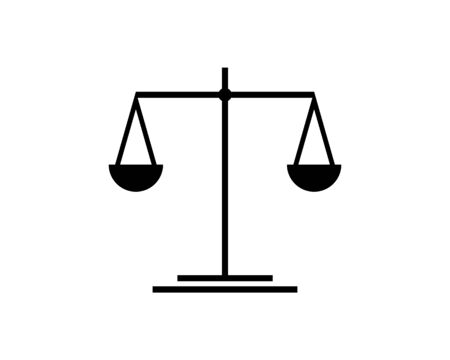 Scale of Justice, Law, Attorneys Icon Vector Logo Template