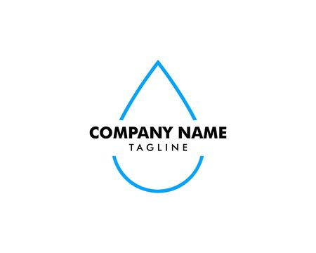 Water drop  design on white Stock Illustratie