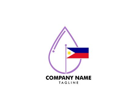Lavender Essential Oil with Philippine Flag on white