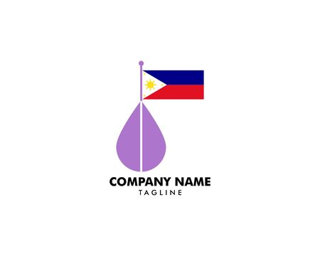 Lavender Essential Oil with Philippine Flag  on white Stock Illustratie