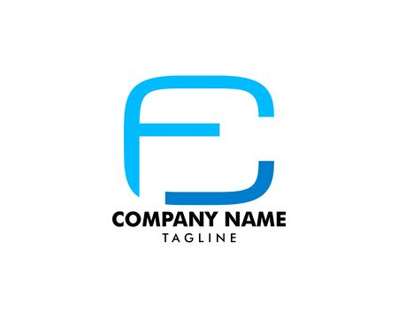 Initial Letter CF Design on white Stock Illustratie