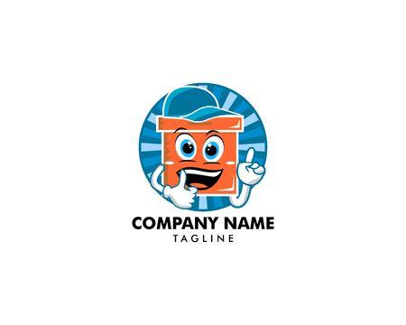 Cardboard box thumbs up mascot on white