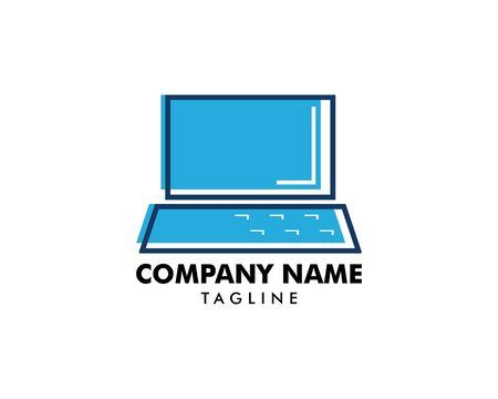 Laptop  Icon Template Design Illustration
