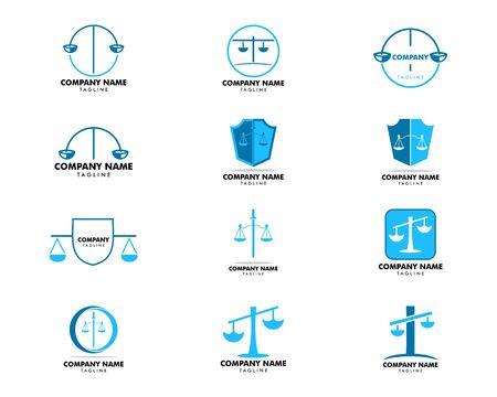Conjunto de diseño de plantilla de bufete de abogados Ilustración de vector
