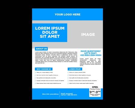 Modèle de mise en page de conception de flyer de brochure de vecteur