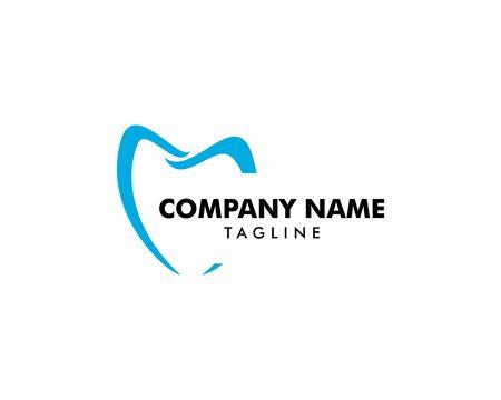 Dental logo template design vector Illusztráció