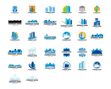 Set of Town Logo Template Design Vector