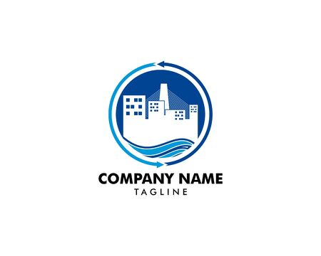 Town Logo Template Design Vector