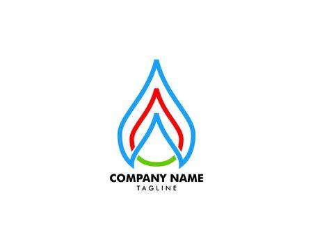 Oil and Gas Logo Design Vector Template Standard-Bild - 134856540