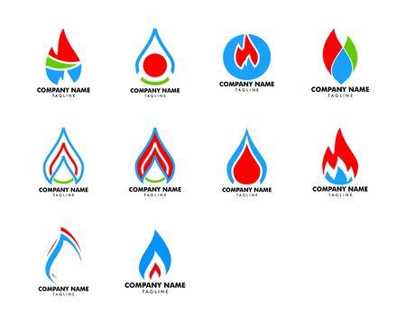Set of Oil and Gas Logo Design Vector Template Foto de archivo - 134856543