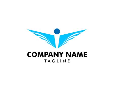 People logo and wing design combination