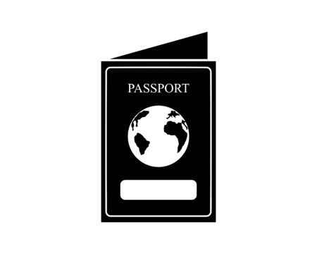 Passport Icon Vector Logo Template
