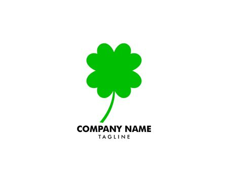 Green Clover Leaf Logo Design Vector