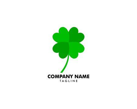 Green Clover Leaf Logo Design Vector Stock Vector - 137431434