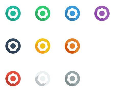 Gear icon flat style vector illustration