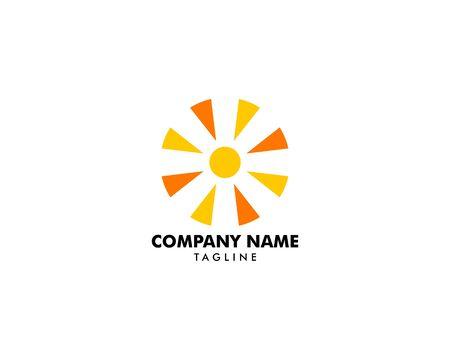 Abstract Sun Logo Design Template