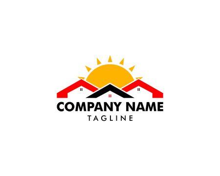 Sun House Logo Design Template