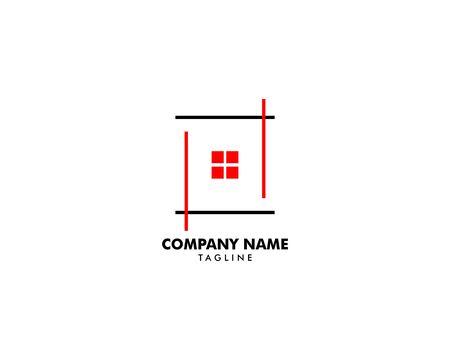 Real Estate, Property and Construction Logo Design Archivio Fotografico - 138420889