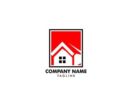 House Square Logo Template Vector Illustration Design Archivio Fotografico - 138420897