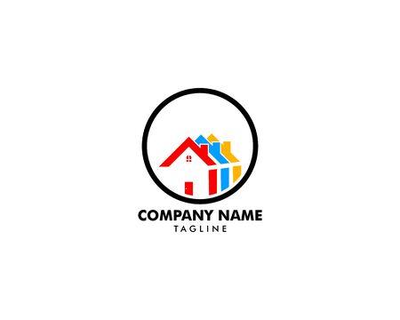 House Circle Logo Template Vector Illustration Design Archivio Fotografico - 138420908