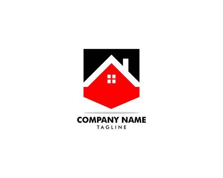 Real Estate, Property and Construction Logo Design Archivio Fotografico - 138420914