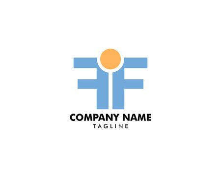 Initial Letter FF Logo with People Design Vector Archivio Fotografico - 138824136