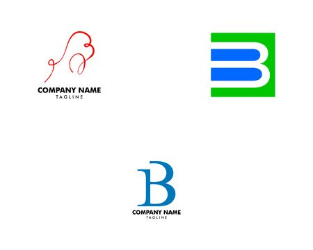 Set of Initial Letter B Logo Template Design Archivio Fotografico - 139838900
