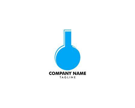 Laboratory Glassware Vector Logo Template Design Element Archivio Fotografico - 139838926