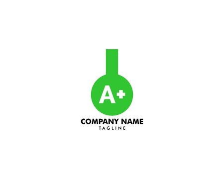 Initial Letter A+ Lab Logo Template with Chemical Glass Illustration Archivio Fotografico - 139838930