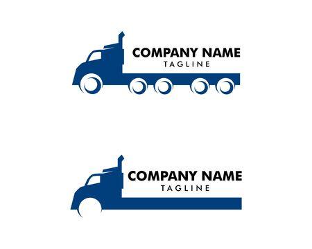 Set of Transportation Truck Logo Vector Design