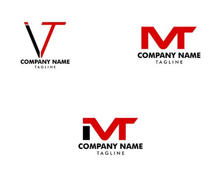 Set of Initial Letter IVT Logo Template Design Archivio Fotografico - 139839006