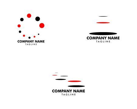 Set of Stepping Stone Logo Template Design
