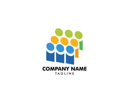 Community People Vector Logo Design Elements Archivio Fotografico - 142454234