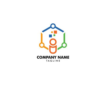 Community People Vector Logo Design Elements Archivio Fotografico - 142454236