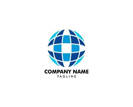 Globe logo template vector icon  design Archivio Fotografico - 142040961