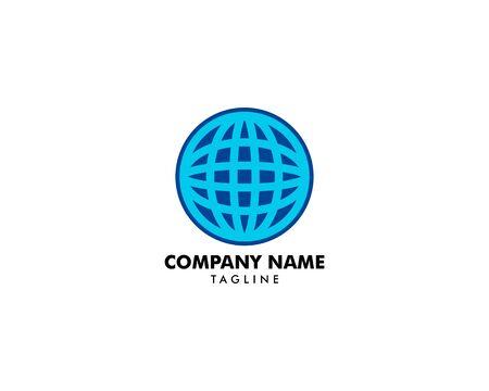 Globe logo template vector icon  design Archivio Fotografico - 142040992