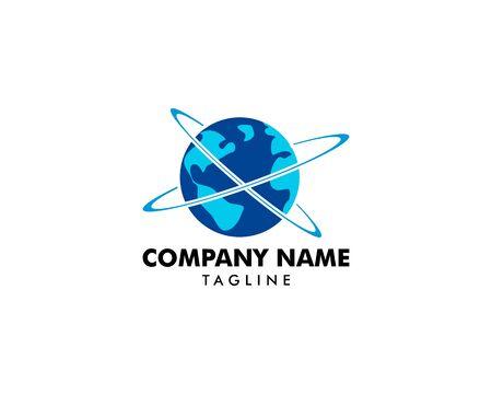 Globe logo template vector icon design