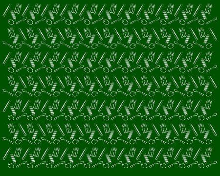 Seamless pattern with school elements Archivio Fotografico - 142040967