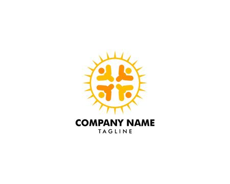 People Sun Logo Template Design Archivio Fotografico - 142040982