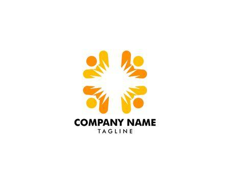 People Sun Logo Template Design Archivio Fotografico - 142040977