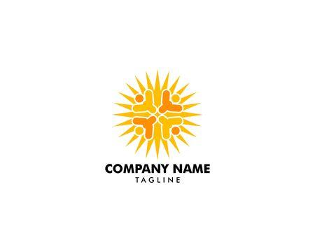 People Sun Logo Template Design Archivio Fotografico - 142040981
