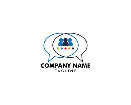 Group People Chat Logo Design Template Archivio Fotografico - 142041868
